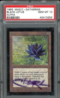 Black lotus из выпуска Alpha