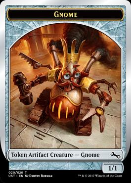 Gnome token MTG из выпуска Unstable