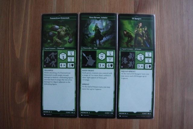 Карточки зелёных персонажей MTG Arena of the Planeswalkers