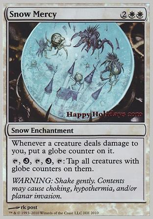 Карта MTG Holiday promo Snow Mercy