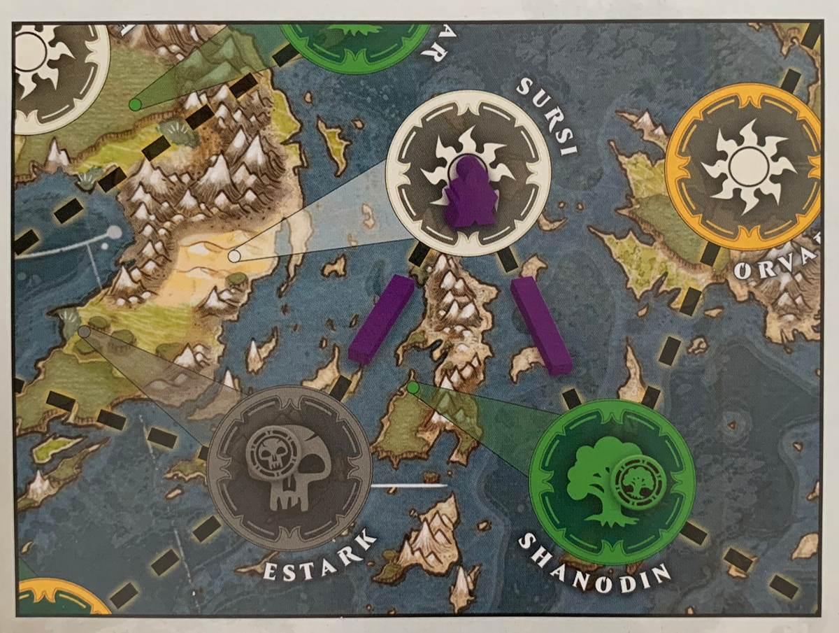 сбор маны через сеть лейлиний в Heroes of Dominaria