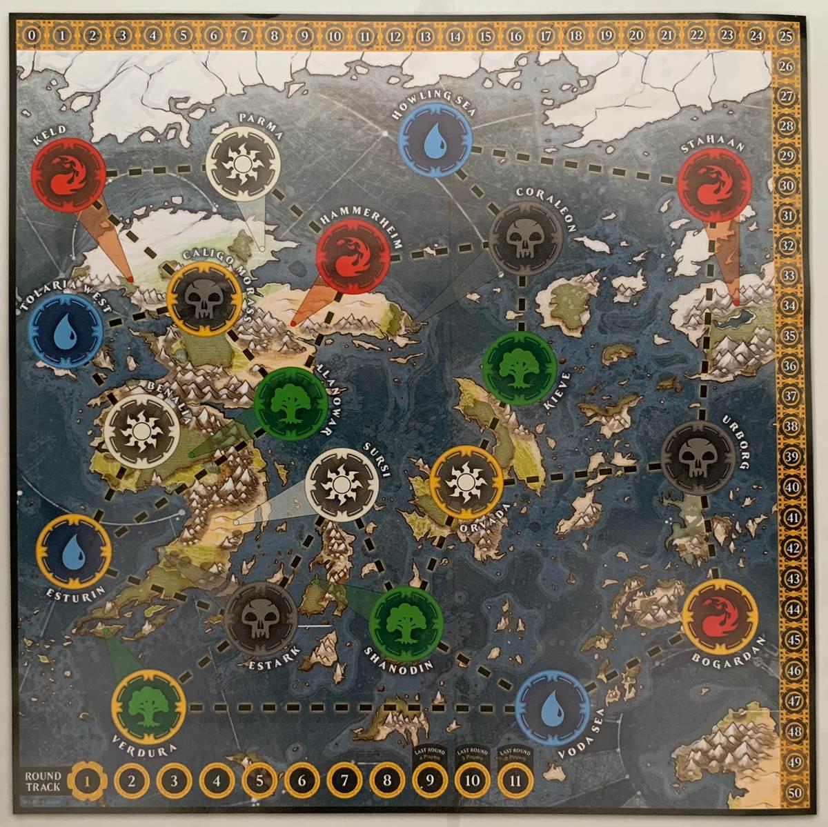 игровая карта Доминарии в Heroes of Dominaria