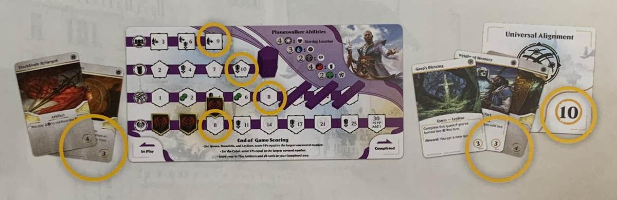 подсчёт очков в Heroes of Dominaria